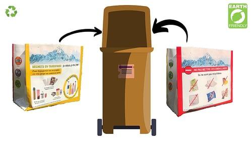 Le sac polypropylène : 100% recyclable dans les bacs jaunes