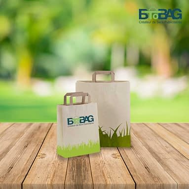 Adopter une image éco-responsable avec nos sacs papier à base d'herbe !